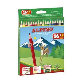 Caja Alpino 16 + 2 Lápices largos WF Alpino