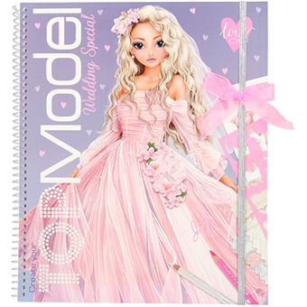 Libro para colorear Top Model Create Your Wedding Special