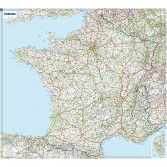 Mapa plastificado France