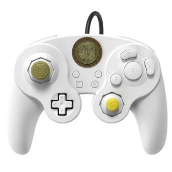 Mando PDP Pro fight The Legend of Zelda Blanco para Nintendo Switch