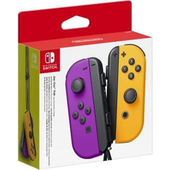 Set Mando Joy-Con morado / naranja neón - Nintendo Switch