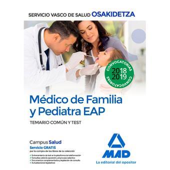 Médico de Familia y Pediatra EAP de Osakidetza - Temario común y test