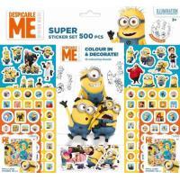 Minions Super stickers set 500 pegatinas