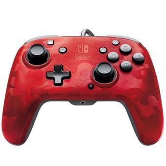 Mando PDP Faceoff Camuflaje Rojo para Nintendo Switch