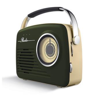 Radio Vintage Akai R100 AM/FM USB Verde
