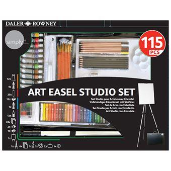 Set de arte Daler Simply 115 piezas con caballete