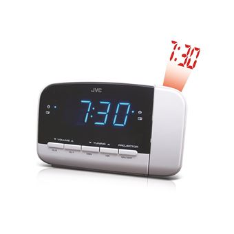 Radio despertador JVC RA-F23W Blanco