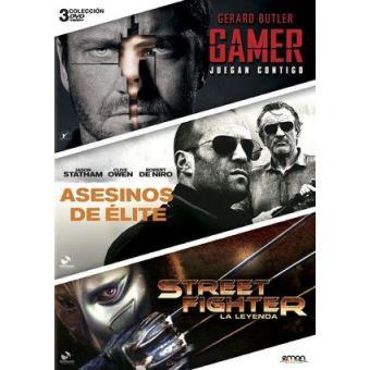 Pack Gamer + Street Fighter: La leyenda + Asesinos de élite - DVD