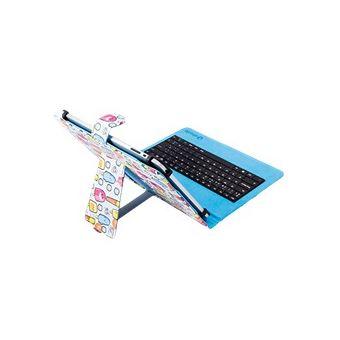 Funda Silver HT Estampada Cool Ice Pop + teclado microUSB para tablet 9 - 10,1''