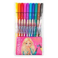 Set de 10 bolígrafos con punta de fibra Top Model multicolor