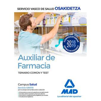Auxiliar de Farmacia de Osakidetza - Temario común y test