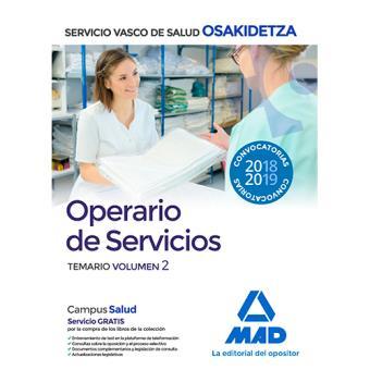 Operario/a de Servicios de Osakidetza - Temario volumen 2