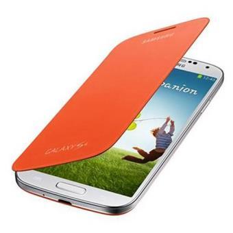 Samsung Funda Flip Cover para Galaxy S4 Naranja