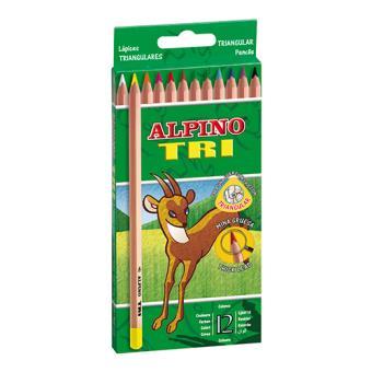 Estuche con 12 lápices colores Tri Alpino