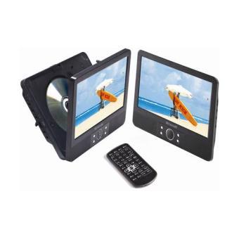 "Reproductor DVD portátil Brandt DVDP9RX2 Doble pantalla 9"""