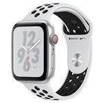 Apple Watch S4 Nike+ LTE 40 mm Caja de aluminio en plata y correa Nike Sport Platino puro/Negro