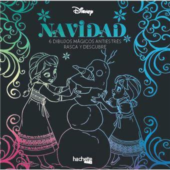Navidad Disney - 6 dibujos mágicos antiestrés - Rasca y descubre