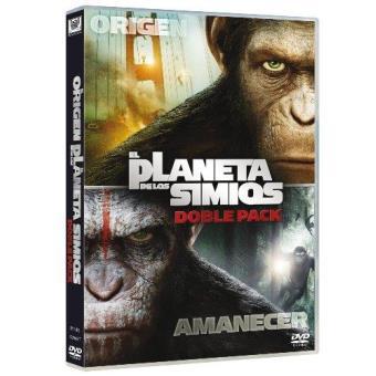 Pack El amanecer del planeta de los simios + El origen del planeta de los simios - DVD