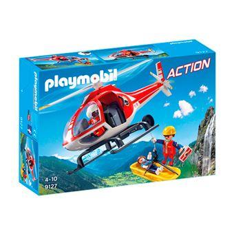 Playmobil Action Helicóptero de rescate de montaña