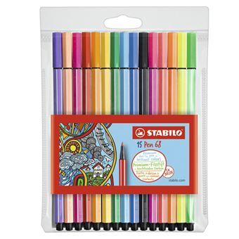 Pack 15 rotuladores Stabilo Premium Pen 68
