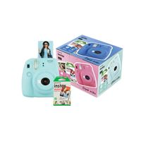 Cámara instantánea Fujifilm Mini 9 Azul hielo + Papel Fujifilm Instax Mini 10 ud.Kit