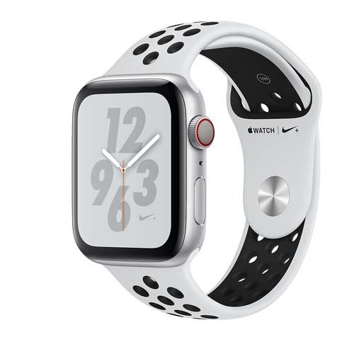 Apple Watch Series 4 Nike+ GPS + Cellular 44mm silver Sport Band pure platinum/black