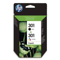 Pack Cartucho de tinta HP 301 Tricolor + Negro