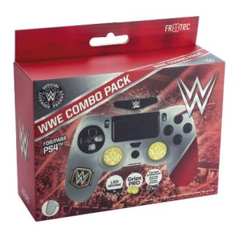 Combo Pack WWE (Case + Grips + LED) para PS4