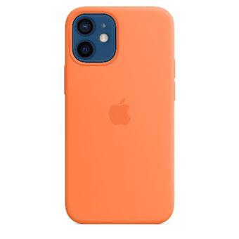 Funda de silicona con MagSafe Apple Naranja kumquat para iPhone 12 mini