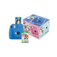 Cámara instantánea Fujifilm Mini 9 Azul cobalto + Papel Fujifilm Instax Mini 10 ud.Kit