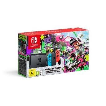 Nintendo Switch Azul Neón/Rojo Neón + Splatoon 2 (código descarga) (Edición Limitada)