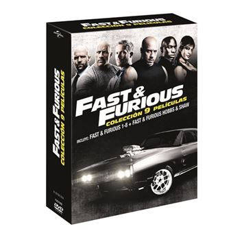 Pack A todo gas - Fast and Furious 1-8 + Hobbs and Shaw - DVD