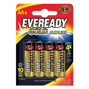 Energizer Eveready Gold Pilas alcalinas AA Energizer Eveready Gold LR6 - 4 unidades