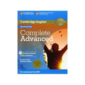 Complete Advanced Student's Book Pack (Student's Book with Answers with CD-ROM and Class Audio CDs (2)) 2nd Edition