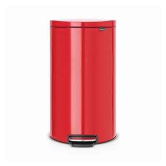 Cubo de basura Brabantia Flatback 30 L Rojo