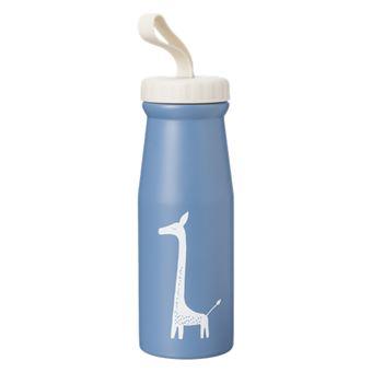Botella termo Fresk Jirafa azul 380 ml