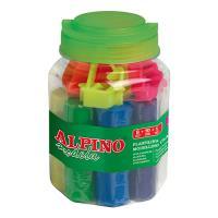 Kit plastilina 8 colores + 10 moldes + rodillo Alpino