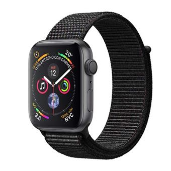 Apple Watch S4 44mm GPS Caja de aluminio en gris espacial y correa Loop deportiva Negra