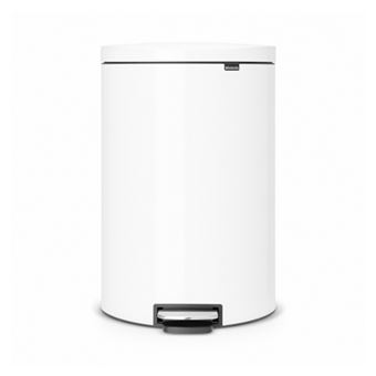 Cubo de basura Brabantia Flatback 40 L Blanco