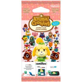 Pack 3 Tarjetas Amiibo Animal Crossing Serie 4