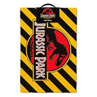 Felpudo Jurassic Park (Warning)