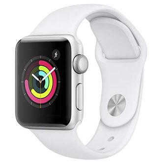 Apple Watch S3 38mm GPS Caja de aluminio en plata y correa deportiva Blanco