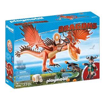 Garfios y Patán Mocoso Playmobil Cómo entrenar a tu dragón