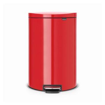 Cubo de basura Brabantia Flatback 40 L Rojo