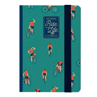 Cuaderno pequeño Legami rayas tapa dura Bike Lovers verde