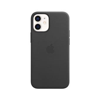 Funda de piel Apple Negro para iPhone 12 Mini