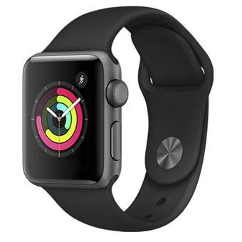 Apple Watch S3 38mm GPS Caja de aluminio en gris espacial y correa deportiva Negro