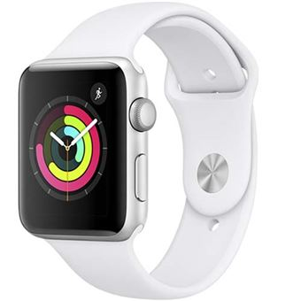 Apple Watch S3 42mm GPS Caja de aluminio en plata y correa deportiva Blanco