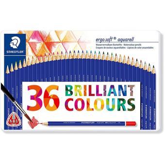 Surtido de lápices de colores Staedtler acuareables 36 unidades