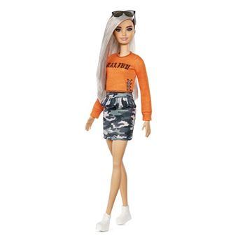 d348215f1 Muñeca Mattel FXL47 - Barbie Fashionista con falda militar